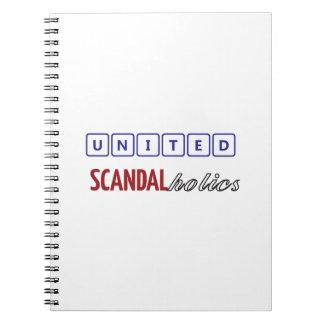 united scandalholics spiral notebook