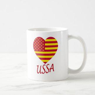 United Socialist States of America Flag Heart Coffee Mug