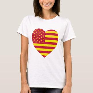 United Socialist States of America Flag Heart T-Shirt