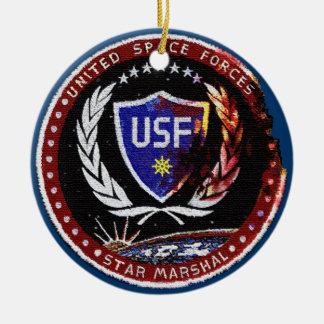 United Space Forces Ceramic Ornament