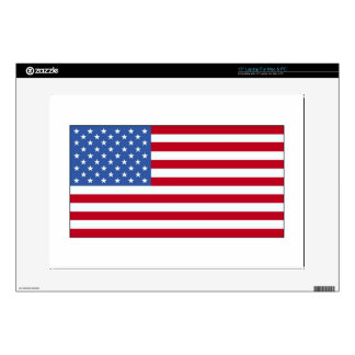 "United State of America Flag Decal For 15"" Laptop"
