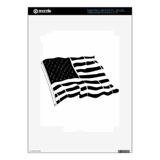United State of America Flag Star Strips iPad 3 Decals