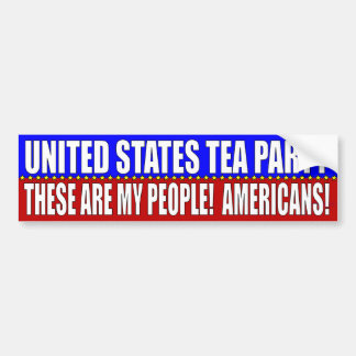 UNITED STATE TEA PARTY BUMPER STICKER