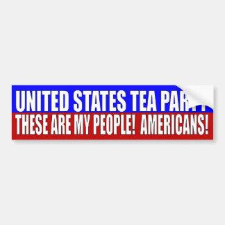 UNITED STATE TEA PARTY CAR BUMPER STICKER