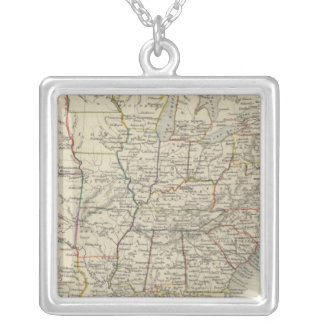 United States 10 Square Pendant Necklace