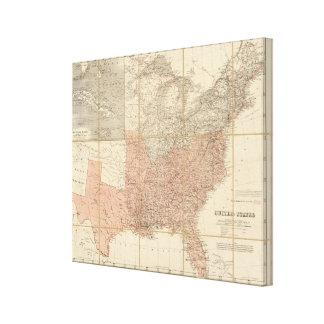United States 16 Stretched Canvas Print