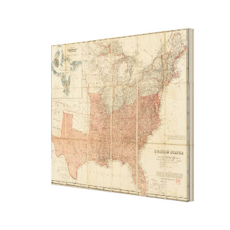 United States 20 Gallery Wrapped Canvas