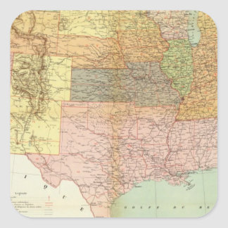 United States 33 Square Sticker