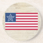 "united States 33 Star &quot;Great Star&quot; Flag Coaster<br><div class=""desc"">united States 33 Star Flag Coaster with U.S. Constitution back ground. 33 Star flag used 2 Years from July 4, 1859 – July 3, 1861, after Oregon was introduced into the Union. The 33-Star Great Star Design 1859 Although never an official version of the United States flag, this very popular...</div>"