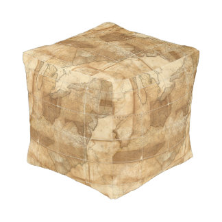 United States 39 Cube Pouf