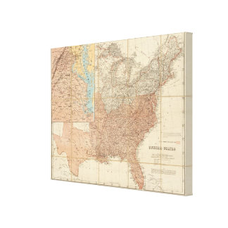 United States 4 Gallery Wrap Canvas