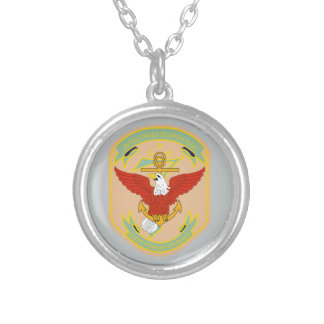 United States 7th Fleet Silver Plated Necklace