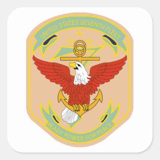 United States 7th Fleet Square Sticker
