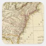 United States 9 Square Sticker