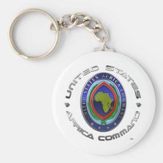 United States Africa Command Basic Round Button Keychain