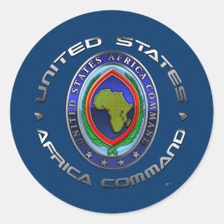 United States Africa Command Classic Round Sticker