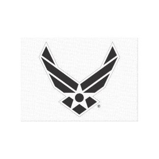 United States Air Force Logo - Black Canvas Print