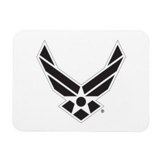 United States Air Force Logo - Black Magnet