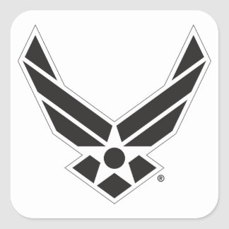 United States Air Force Logo - Black Square Sticker