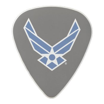 United States Air Force Logo - Blue Acetal Guitar Pick by usairforce at Zazzle