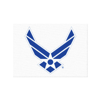 United States Air Force Logo - Blue Canvas Print