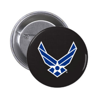 United States Air Force Logo - Blue Pinback Button