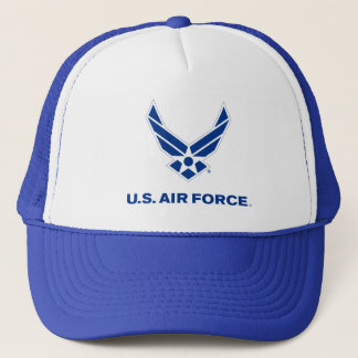 Military - United States Air Force Logo - Blue Trucker Hat