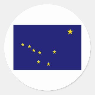 United States Alaska Flag Classic Round Sticker