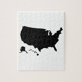 United States Alaska Hawaii map Jigsaw Puzzles