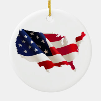 united states america, 4th july independence day ceramic ornament