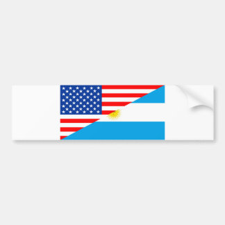 united states america argentina half flag usa coun bumper sticker