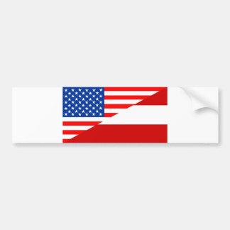 united states america austria half flag usa countr bumper sticker