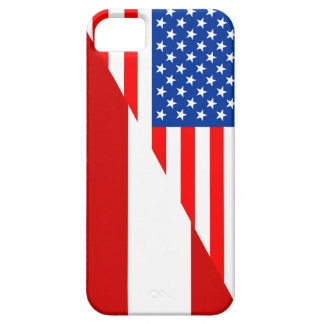 united states america austria half flag usa countr iPhone SE/5/5s case