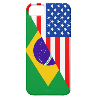 united states america brazil half flag usa country iPhone SE/5/5s case