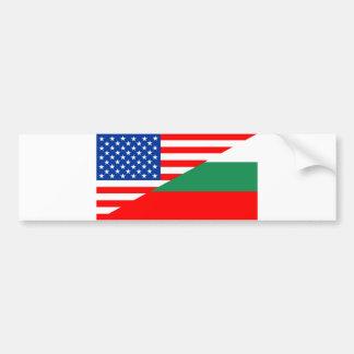 united states america bulgaria half flag usa count bumper sticker