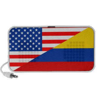 united states america colombia half flag usa count mini speaker