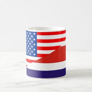 united states america costa rica half flag usa cou coffee mug