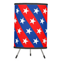 united states america country flag pattern symbol tripod lamp