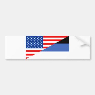 united states america estonia half flag usa countr bumper sticker