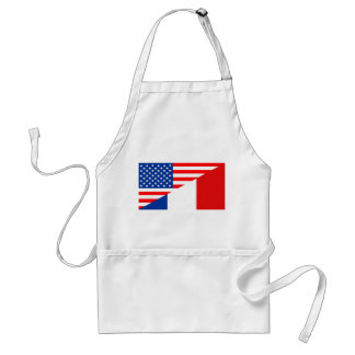 united states america france half flag usa country adult apron