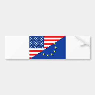 united states america france half flag usa country bumper sticker
