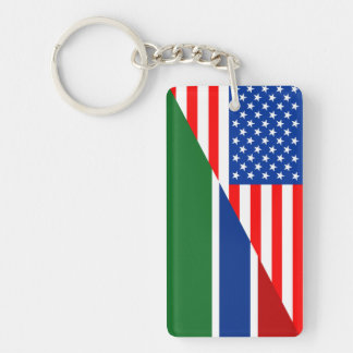 united states america gambia half flag usa country keychain
