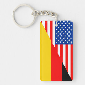 united states america germany half flag usa countr keychain