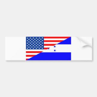 united states america honduras half flag usa count bumper sticker