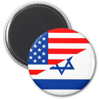 united states america israel half flag usa country 2 inch round magnet