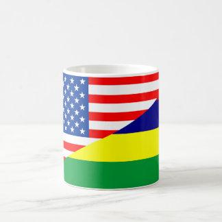 united states america mauritius half flag usa coun coffee mug