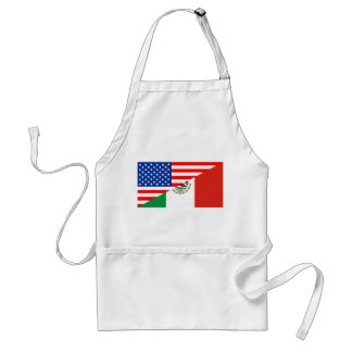 united states america mexico half flag usa country adult apron