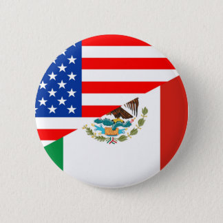 united states america mexico half flag usa country pinback button
