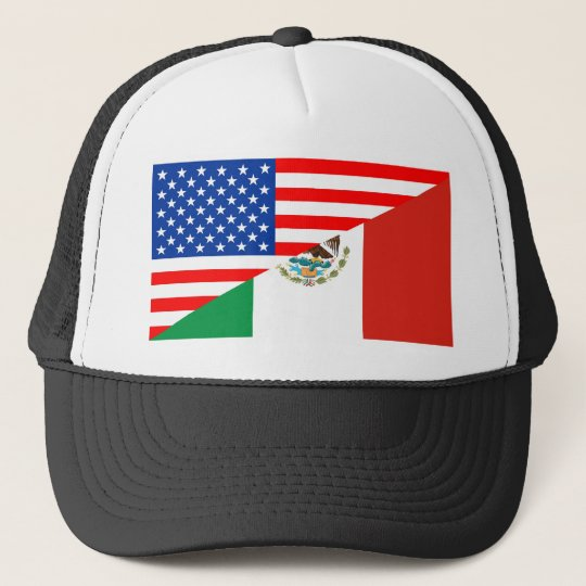 ebc67d274ce united states america mexico half flag usa country trucker hat ...