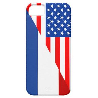 united states america netherlands half flag  usa iPhone SE/5/5s case